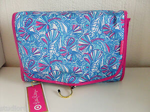 30172b3080 Lilly Pulitzer for TARGET my fans TRAVEL cosmetic bag VALET with 2 ...
