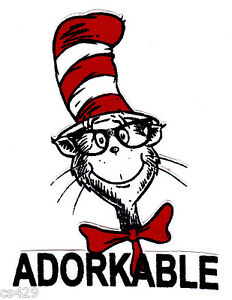 Image Is Loading 4 034 Dr Seuss Adorkable Cat Hat Logo