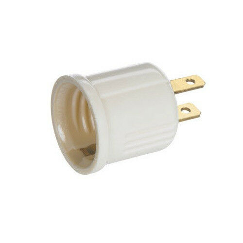 Plug In OUTLET SOCKET ADAPTER plug to Light bulb NEW