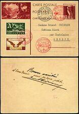 153/Zeppelin Schweiz 1930 Landungsfahrt Postkarte ZuF Zürich Genf Si 87