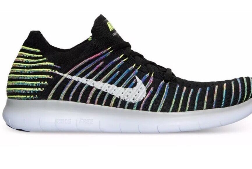 New Nike Free Run Natural Flexible Fly Knit Black Men Shoes Sz 12 Light Athletic