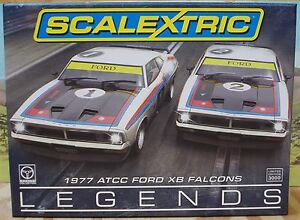 SCALEXTRIC-1-32-C3587A-1977-ATCC-FORD-XB-FALCONS-TWO-CAR-PACK-MOFFAT-BOND-NIB