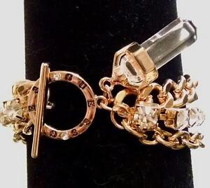 NEW-GUESS-Rhinestone-Gold-Chain-Designer-Bracelet-7-5-034-Orig-40
