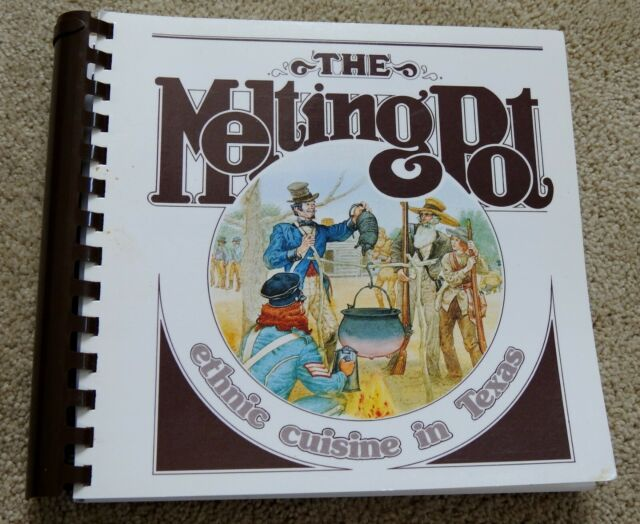 TEXAS COOKBOOK The Melting Pot ETHNIC CUISINE in TX spiral bound recipes