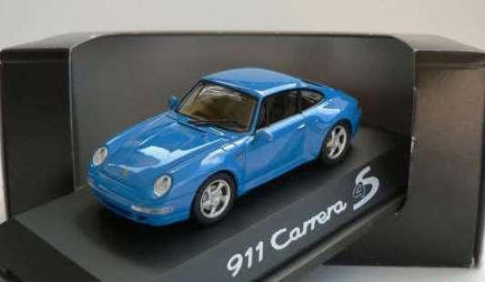 Raro Schuco Porsche 911 993 C4S distribuidor promo Marítimo blu 1 43 como nuevo 1 1000