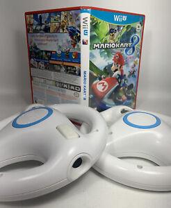 Mario Kart 8 Wii U & 2 Nintendo Steering Wheel Family Racing Party Bundle