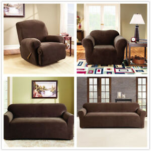 2 Piece Style 17 Colour Stretch Lounge Couch Sofa Covers Slipcover  1 2 3 4 Seat