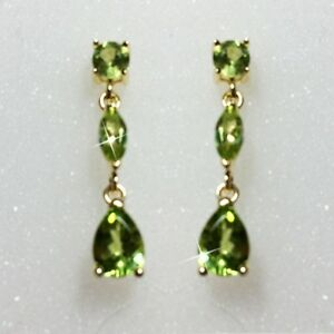 Round-Marquise-Pear-Natural-Peridot-Dangle-Earrings-14k-Yellow-Gold-over-925-SS