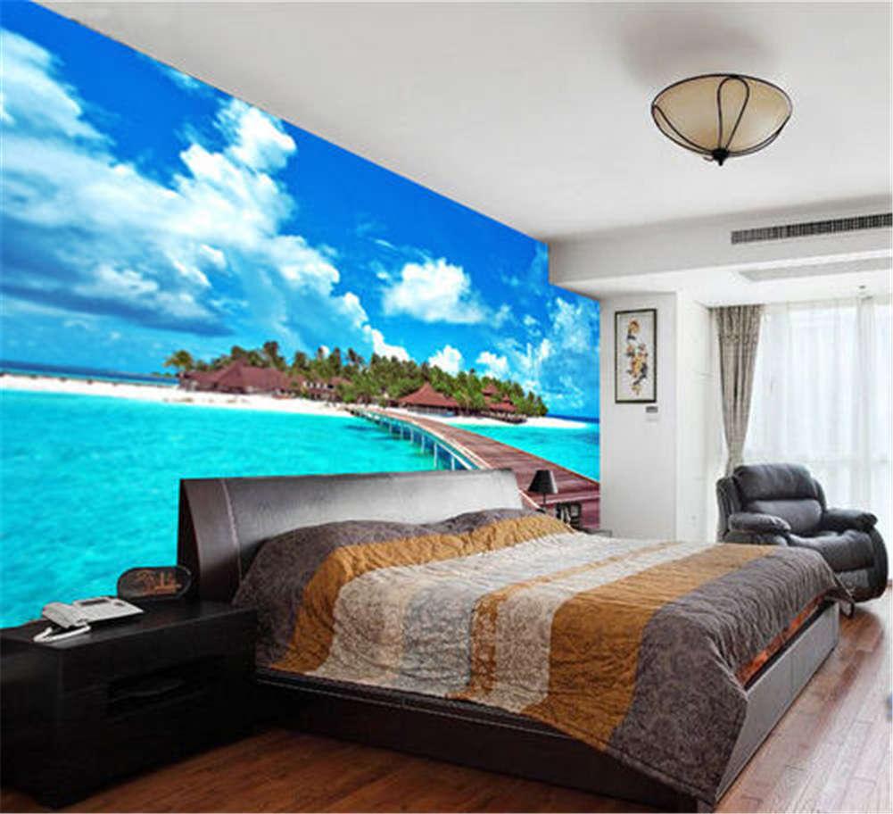A Beautiful Island Full Wall Mural Photo Wallpaper Printing 3D Decor Kid Home