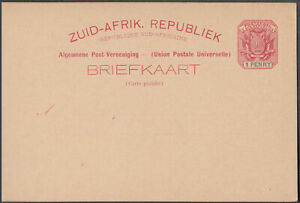 SOUTH-ZUID-AFRICA-1d-SCARCE-EARLY-UNUSED-UPU-POSTAL-STATIONERY-CARD