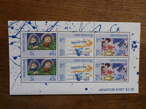 NEW-ZEALAND-HEALTH-STAMPS-1986-CHILDREN-6-STAMP-MINI-SHEET-MNH