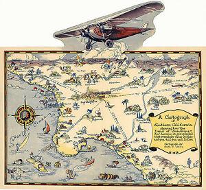 1921-Pictorial-Map-Cartograph-Southern-California-Wall-Art-Poster-Print-History