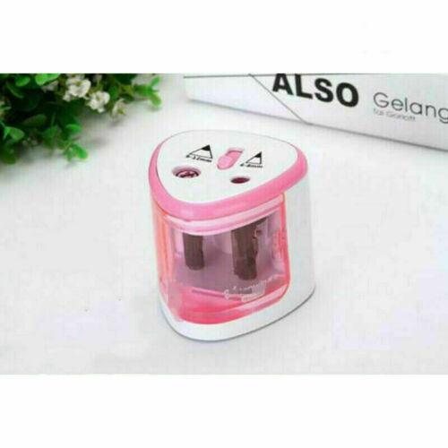 Students Automatic Electric Battery USB Operated Desktop Pencil Sharpener 2 Hole