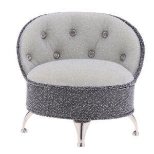 Miniature-Gray-Single-Sofa-Chair-Furniture-Toy-for-1-6-Action-Figure-Dolls