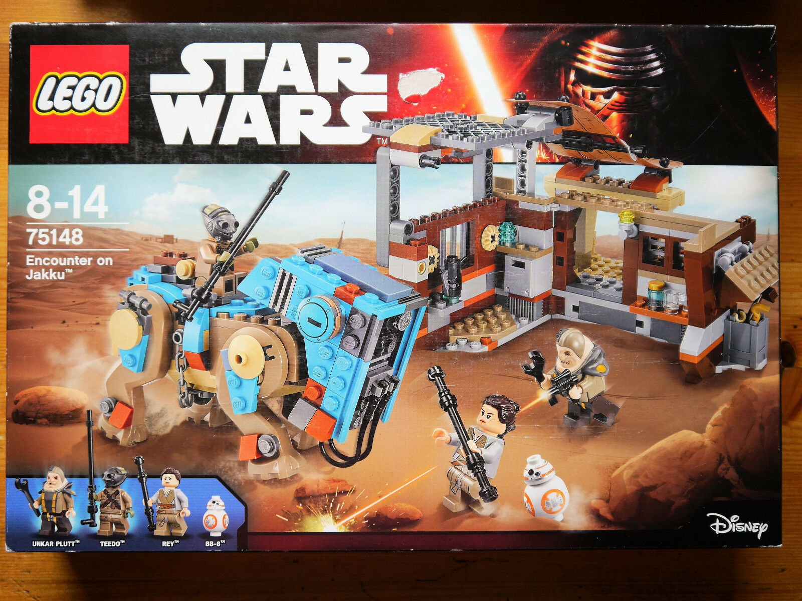 Star Wars-Encounter on Jakku-RALLIER plutt teedo Rey bb-8, Lego  75148 en boîte