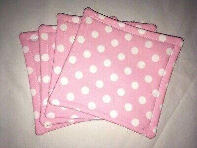 Handmade polka dot stars cotton coastersmug rugs