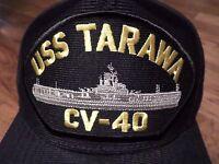 Uss Tarawa Cv-40 U.s Navy Ship Hat U.s Military Official Ball Cap U.s.a Made