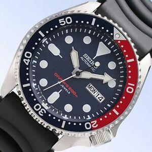 Seiko-JAPAN-Made-Pepsi-SKX-200M-Diver-039-s-Men-039-s-Watch