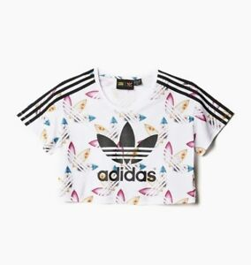 size 40 ff510 1a97e Image is loading ADIDAS-ORIGINALS-PHARRELL-WILLIAMS-SURF-CROP-TEE-ALL-