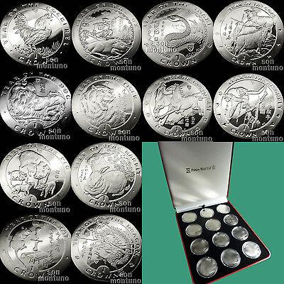 1993-2004 Isle of Man CHINESE ZODIAC SERIES Lunar Year Copper Nickel 12 Coin Set