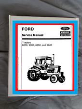Ford 8000 9000 9600 8600 Tractor Service Manual Workshop Binder