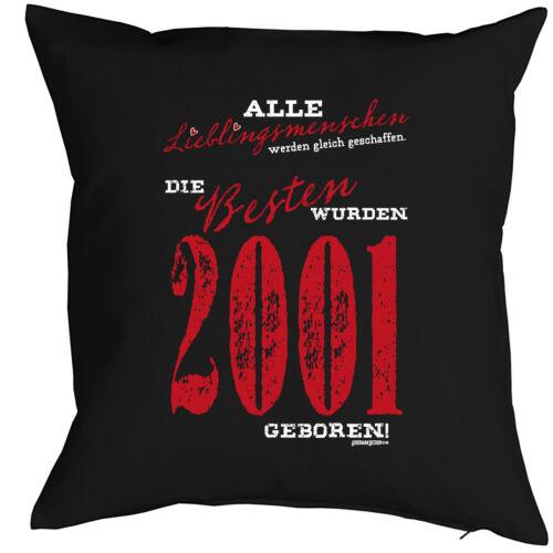 19 Geburtstag Kissen lustiges Sprüche Kissen 19 Jahre Jahrgang 2001 Geschenk
