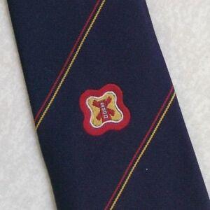 Vintage Cravate Homme Cravate Crested Club Association Society Neatwear London-afficher Le Titre D'origine