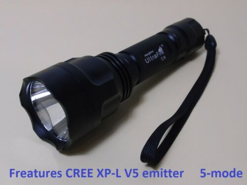 Ultrafire C8 XP-L V5 5-mode 1600 Lumen Flshlight