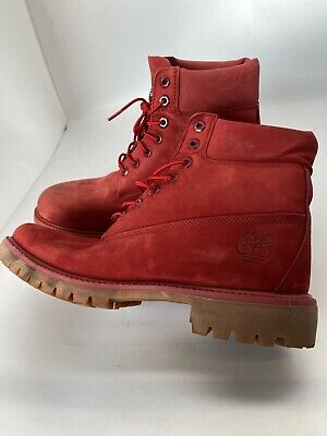Premium TB0A1149 Red Leather Boots