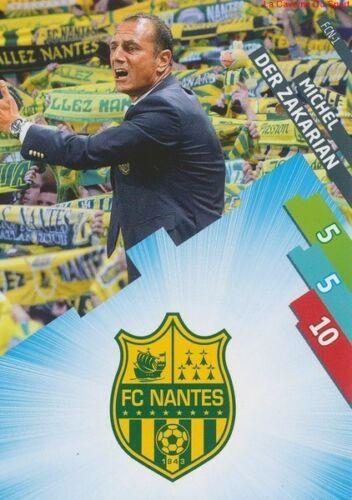 DER ZAKARIAN # FC.NANTES CARD ADRENALYN FOOT 2015 PANINI FCN-01 LOGO ECUSSON