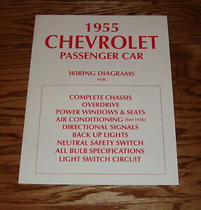 Details about 1955 Chevrolet Penger Car Wiring Diagrams for Complete on