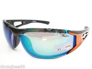 a3e82ba87f2b Image is loading Indian-Sunglasses-Men-Wraparound-Black -Orange-Plastic-Frames-
