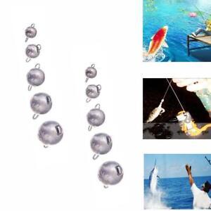 12x-Jig-Head-Sinker-Ball-Fishing-Weights-Lead-Cheburashka-Lures-For-Soft-H4B