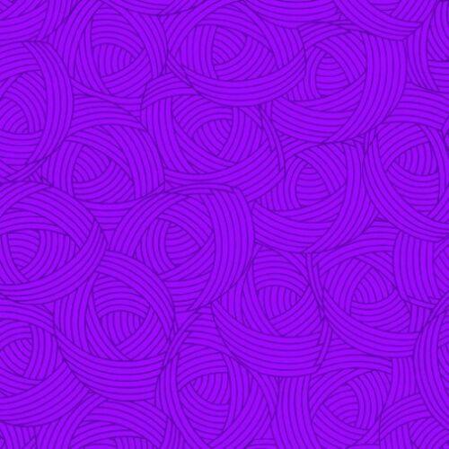 Lola Textures Woven Blender Purple Balls of Yarn Cotton Fabric Fat Quarter