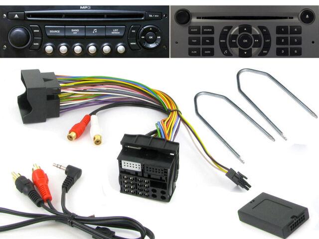CTVPGX011 Citroen AUX adaptor & RD4 radio removal release keys PC5-83 CT22UV01