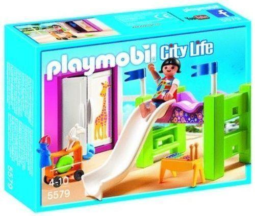 Playmobil 5579 kinderzimmer mit hochbett rutsche ebay for Kinderzimmer playmobil