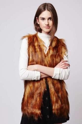Unreal Gilet Australia Play Small Faux Nouveau 145 Ginger Rrp Fur 1Pq1Brf