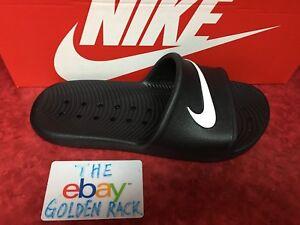 f33471802e89 NIKE Kawa Shower 832655 001 Women s Slide Sandal Black Sz 6-12 Fast ...
