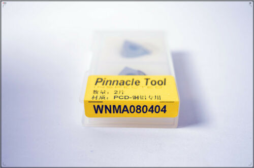 (PCD)WNMA080404 PCD INSERTS CNC for Aluminum Polycrystalline diamond tools 2pcs