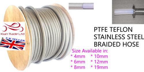 "10MM 3//8/"" Stainless Steel Braided Hose PTFE TEFLON Braided Fuel Line patrol"