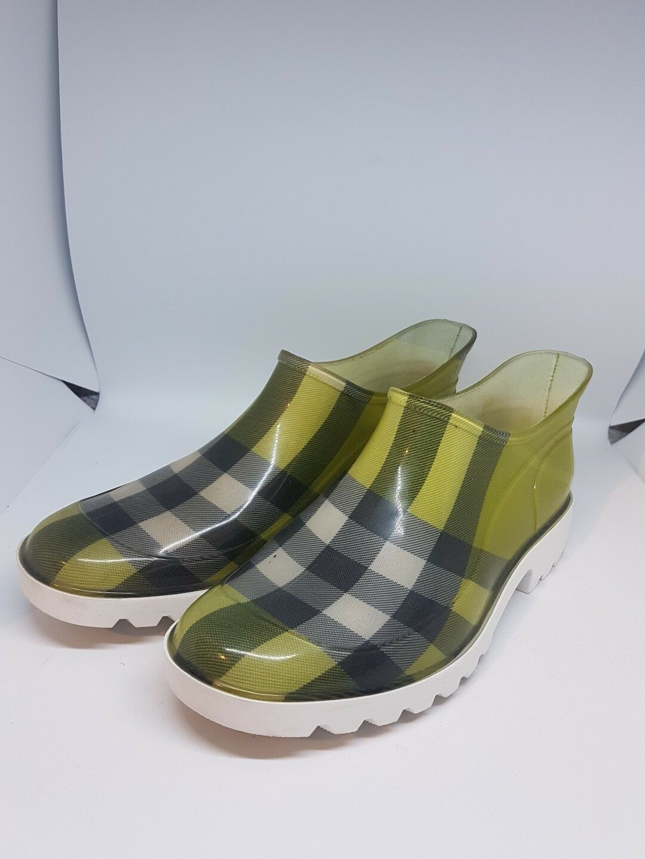 Burberry Damen Schuhe Halbschuhe Gummi UK7 Gr.41 Neuwertig mit OVP