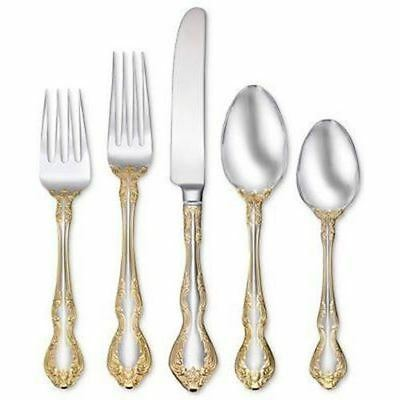 Oneida Golden Mandolina 20 Piece Fine Flatware Set, Service for 4