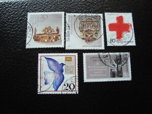 Germany-Rfa-Stamp-Yvert-and-Tellier-N-1217-A-1221-Obl-A3-Stamp-Germany