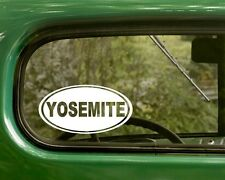 2 YOSEMITE NATIONAL PARK DECAL Oval Stickers Travel Mug Car Truck Bumper Window