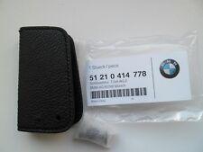 BMW E88 E90 E91 E92 E93 LEATHER CASE KEY FOB COVER HOLDER GENUINE