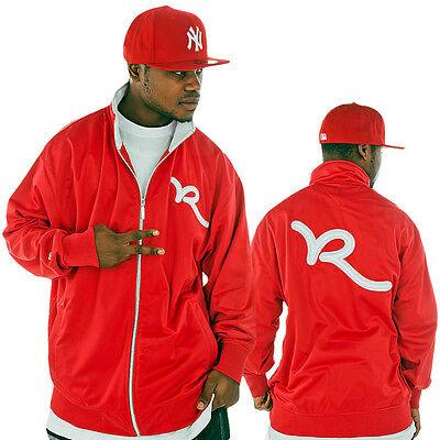 Rocawear Men/'s Designer Track Jacket Bomber Hip Hop Star Is Time Money CRNBR