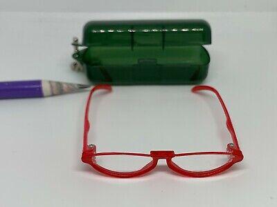 E037 Blythe Doll Blue Rec Frame Eyeglasses w// lens #4 Vintage epoch Miniature
