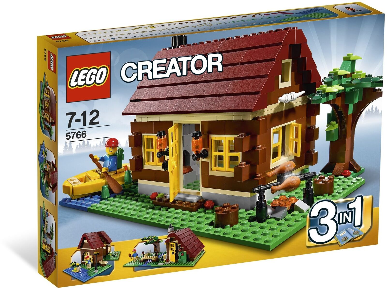 Brand New Lego Creator 5766 Log Cabin 3 in 1 Factory Sealed RetiROT Set