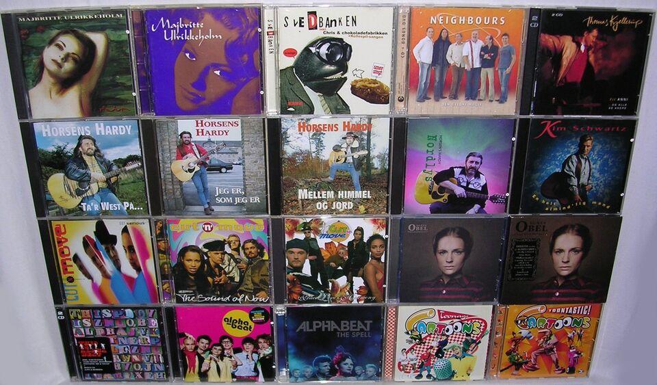Danske CDer: Blandet, pop