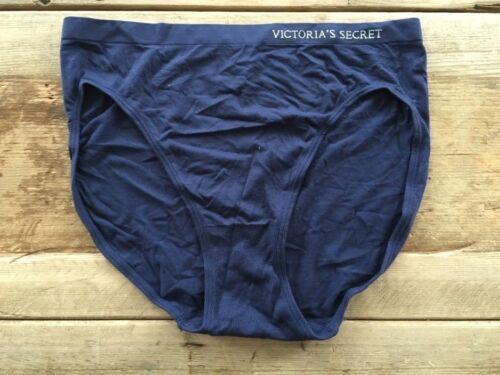 VICTORIA/'S SECRET SOLID NAVY LOGO SEAMLESS HIGH LEG  BRIEF PANTY NEW XS S M L